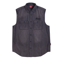 Men's Sleeveless Denim Shirt, Gray