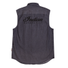 Men's Sleeveless Denim Shirt, Gray - Image 2 of 2