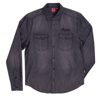 Men's Long Sleeve Denim Shirt, Gray