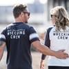 Men's Wrecking Crew T-Shirt with Stripe, Gray - Image 5 of 5