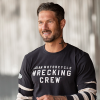 Men's Long-Sleeve Wrecking Crew T-Shirt with Stripe, Gray - Image 1 of 4