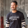 Men's Long-Sleeve Wrecking Crew T-Shirt with Stripe, Gray - Image 4 of 4