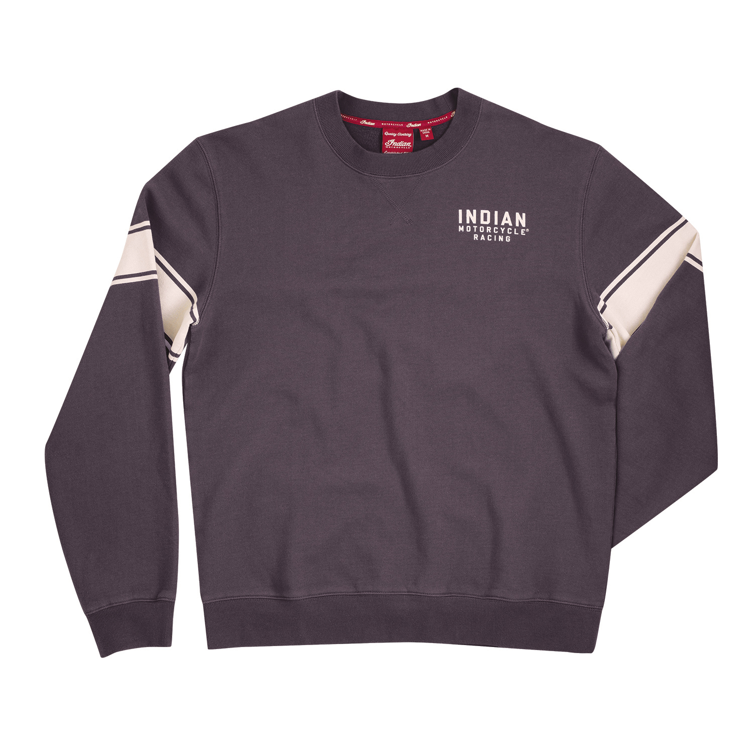Men's Wrecking Crew Pull-Over Sweatshirt with Stripe, Gray
