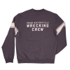 Men's Wrecking Crew Pull-Over Sweatshirt with Stripe, Gray - Image 3 of 4