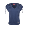 Women's T-Shirt with Ruched Shoulder, Blue - Image 1 of 4