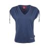 Women's T-Shirt with Ruched Shoulder, Blue - Image 2 de 4