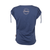 Women's T-Shirt with Ruched Shoulder, Blue - Image 4 of 4
