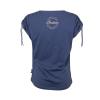 Women's T-Shirt with Ruched Shoulder, Blue - Image 4 de 4