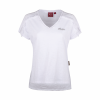 Women's T-Shirt with Laced Shoulder, White - Image 2 of 4