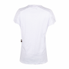 Women's T-Shirt with Laced Shoulder, White - Image 4 de 4