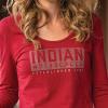 Women Long-Sleeve Logo T-Shirt with Diamantes, Red - Image 4 de 5