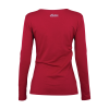 Women Long-Sleeve Logo T-Shirt with Diamantes, Red - Image 5 of 5