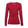 Women Long-Sleeve Logo T-Shirt with Diamantes, Red - Image 5 de 5