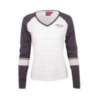 Women's Long-Sleeve Wrecking Crew T-Shirt with Stripes, White