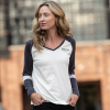 Women's Long-Sleeve Wrecking Crew T-Shirt with Stripes, White - Image 2 of 4