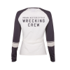 Women's Long-Sleeve Wrecking Crew T-Shirt with Stripes, White - Image 4 of 4