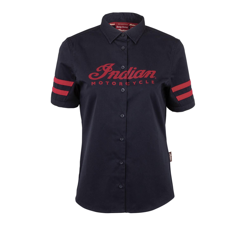 Indian Motorcycle Women/'s Casual Shop Shirt Black