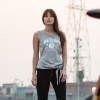 Women's Tank Top with Front Tie, Gray - Image 2 of 4