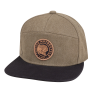Flatbill Waxed Cotton Trucker Hat with Icon Logo, Khaki - Image 2 of 3
