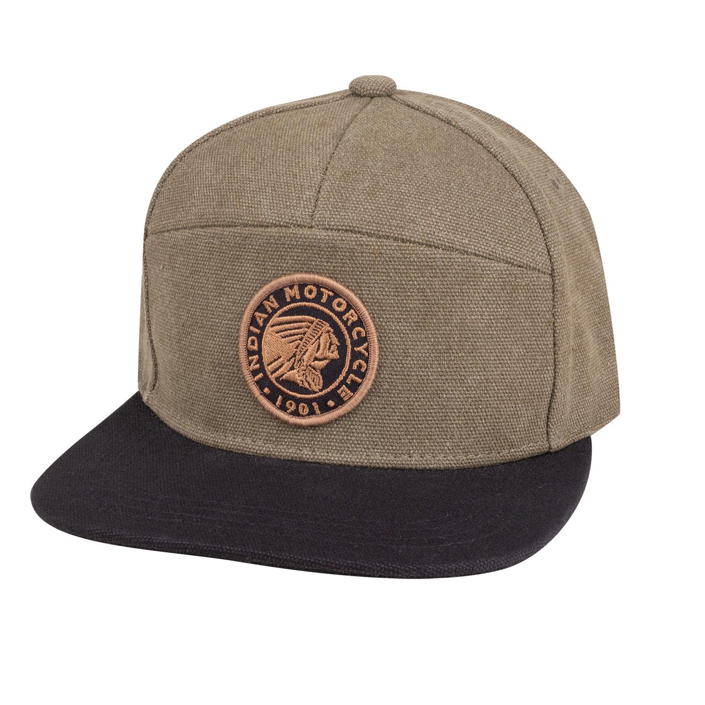 Flatbill Waxed Cotton Trucker Hat with Icon Logo, Khaki