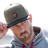 Flatbill Waxed Cotton Trucker Hat with Icon Logo, Khaki - Image 1 of 3