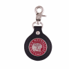 Icon Leather Key Ring, Black/Red  - Image 1 of 1