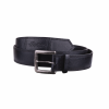 Leather Belt with Embossed Script Logo, Black - Image 1 of 1