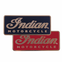 Indian Motorcycle Script Logo Fridge Magnets, Set of 2