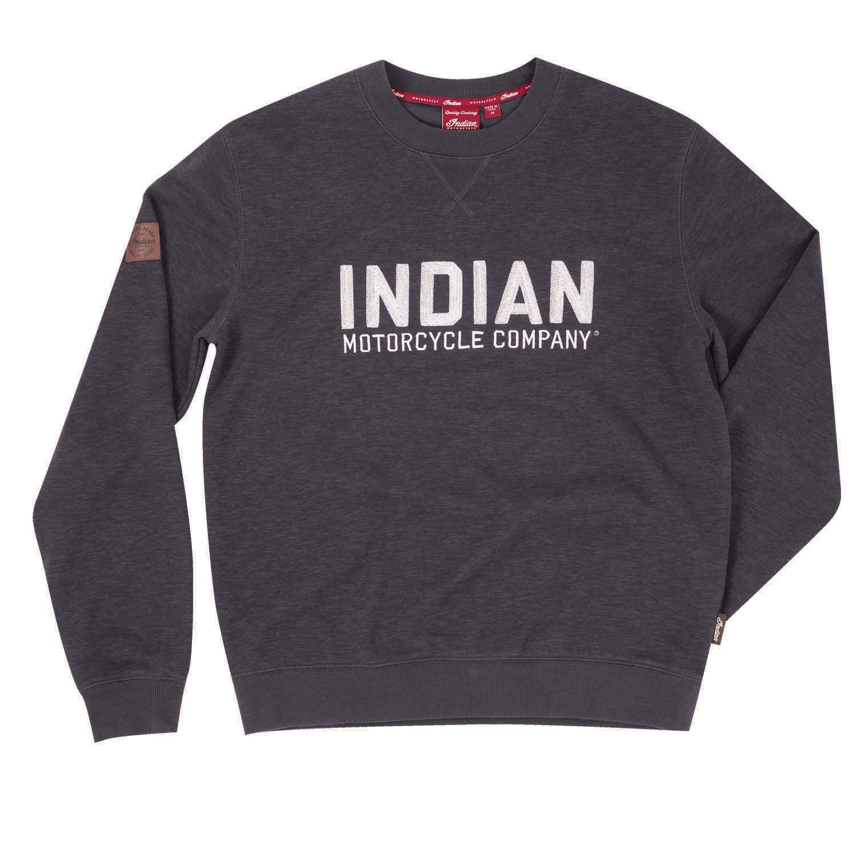 Men's Pull-Over Sweatshirt with Block Logo, Charcoal