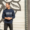 Men's Pull-Over Knit Sweater with Block Logo, Navy - Image 4 of 4
