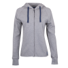 Women's Contrast Zip-Up Hoodie Sweatshirt, Gray - Image 1 of 1