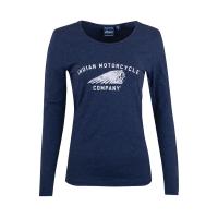 Women's Long-Sleeve Motif T-Shirt, Navy