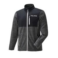 Men's Full-Zip Mid Layer Jacket with Polaris Logo, Black