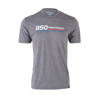 Men's Short-Sleeve 850 Patriot Graphic Tee with Logo, Gray