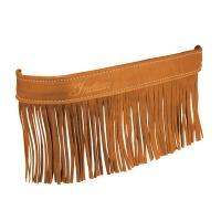 Genuine Leather Floorboard Trim With Fringe - Desert Tan