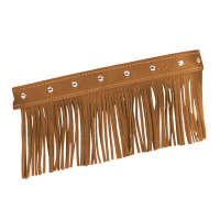 Genuine Leather Floorboard Trim With Fringe - Desert Tan w/ Studs