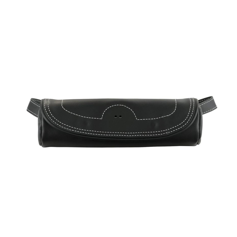 Genuine Leather Fork Bag - Black