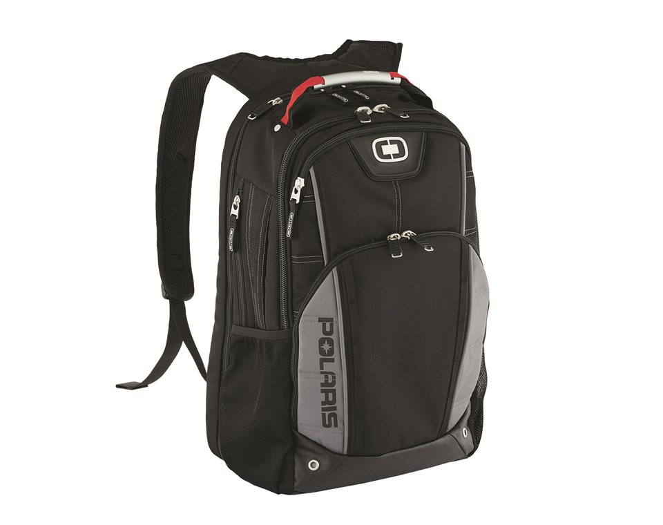 OGIO® Axle Laptop Backpack with Zippered Stash Pocket, Black/Gray