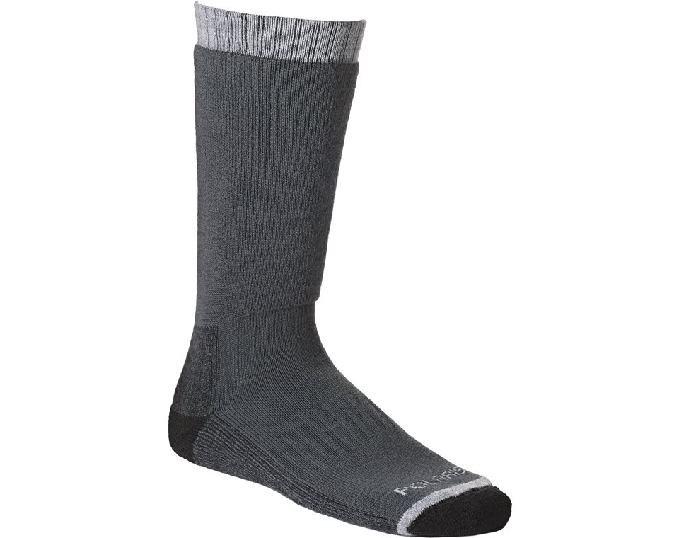 Unisex Calf-High Adventure Wool Sock, Gray
