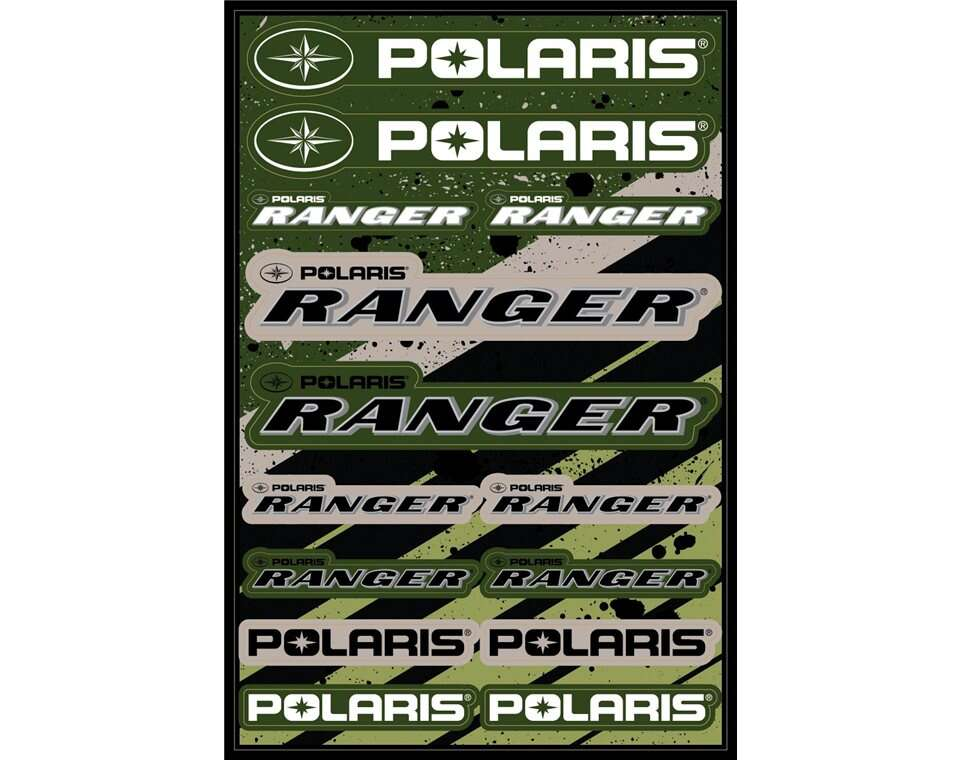 48 in. UV-Coated Sticker Sheet with Polaris® and RANGER® Logos