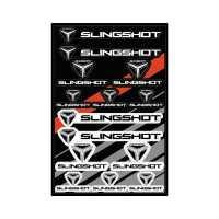 UV Coated Laminate Slingshot® Logo Sticker Sheet