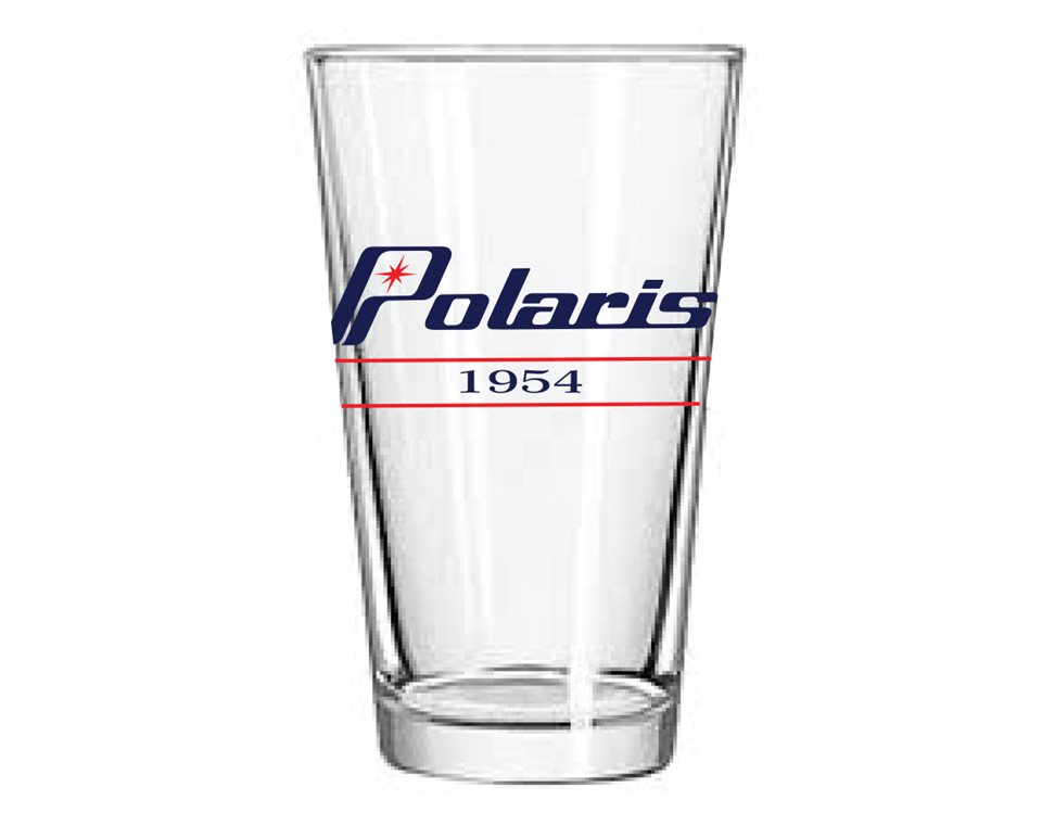 Retro Pint Glass with Polaris® Logo, Two Count