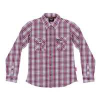 Womens Attitude Plaid Shirt - Red/White