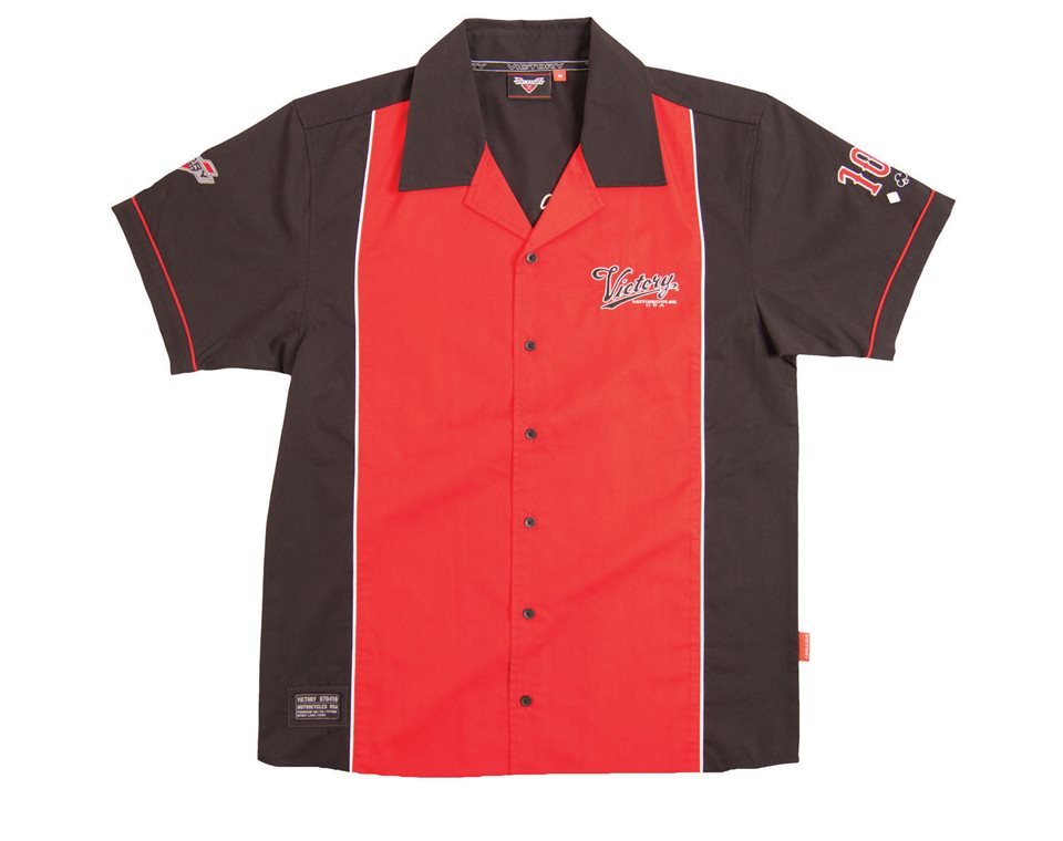 Men's FC Shirt - Black/Red | Victory Motorcycles