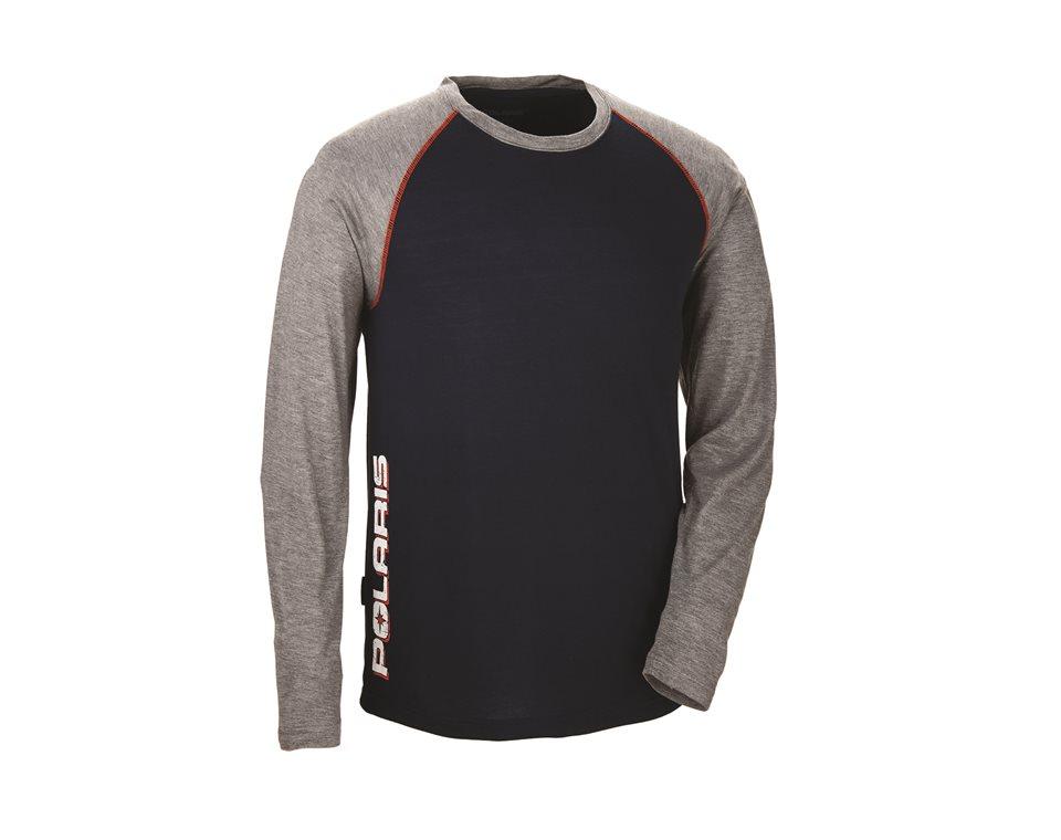 Men's Tech Long Sleeve - Navy/Orange