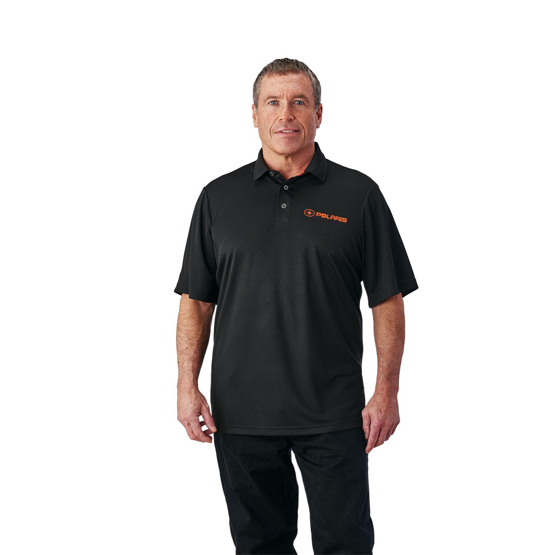 Men's Solid Tech Polo - Black