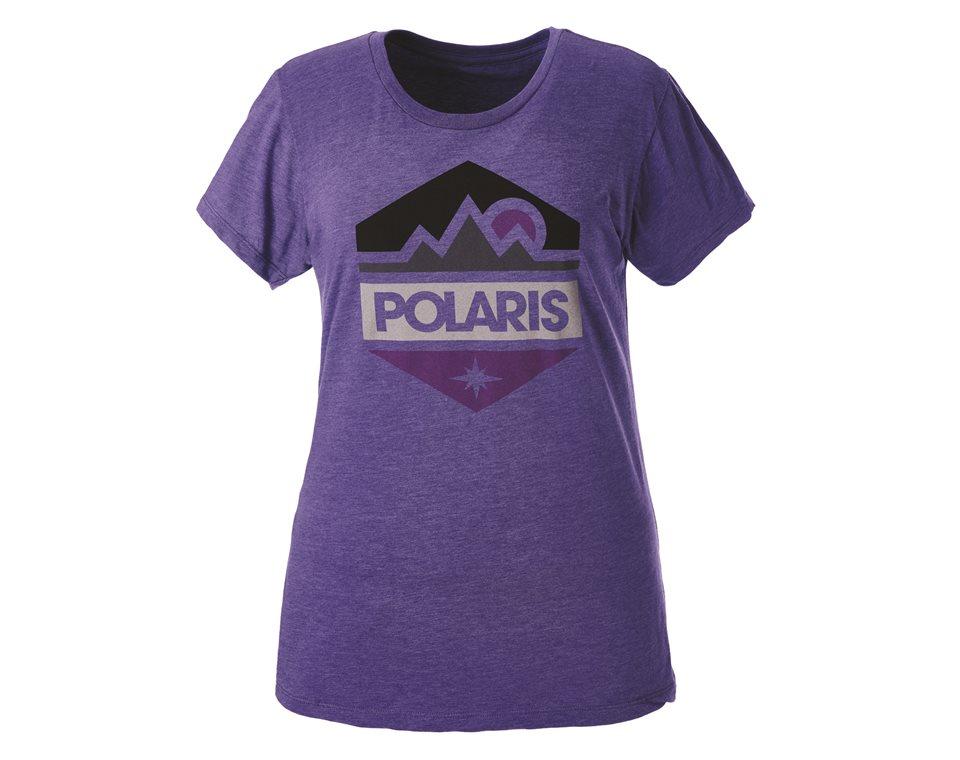 Womens hex tee purple polaris sportsman womens hex tee purple malvernweather Choice Image