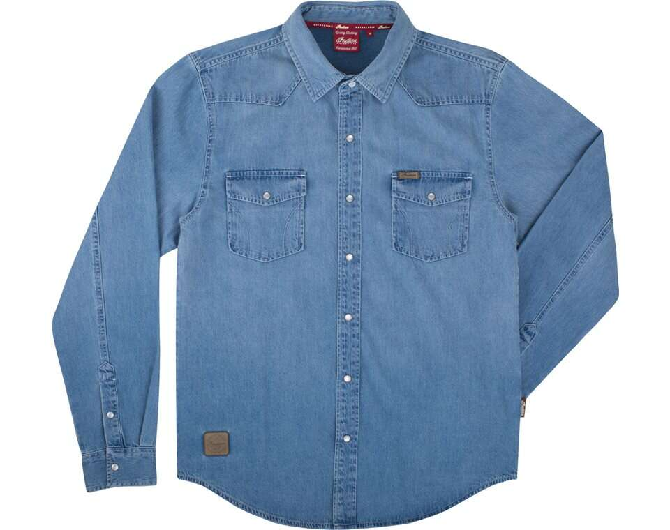 Womens Pearl Snap Denim Shirt