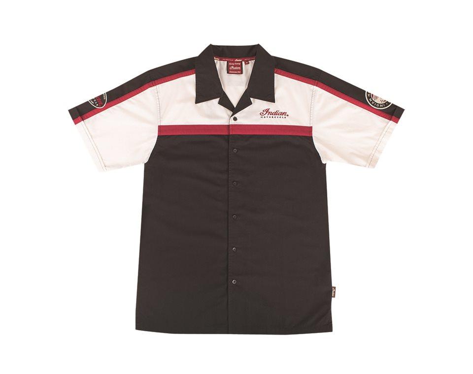 Men's Color Block Shirt Black/Red/Antique White