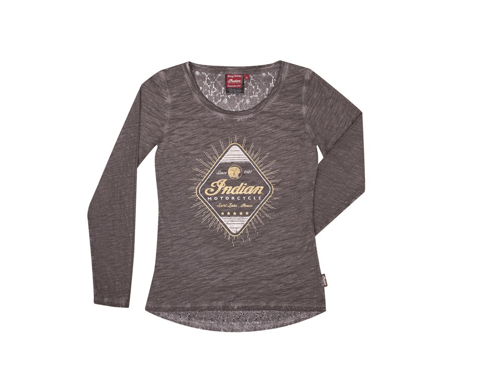 Women's Long Sleeve Diamond Tee Gray